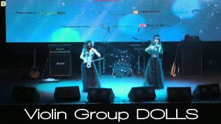 Скрипачка и виолончелистка Violin Group DOLLS - вручение премии
