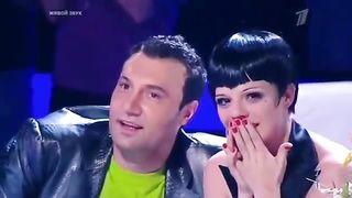 """Шоу """"Один в один"""" Ева Польна в образе Валерия Меладзе  17 .03.2013"""